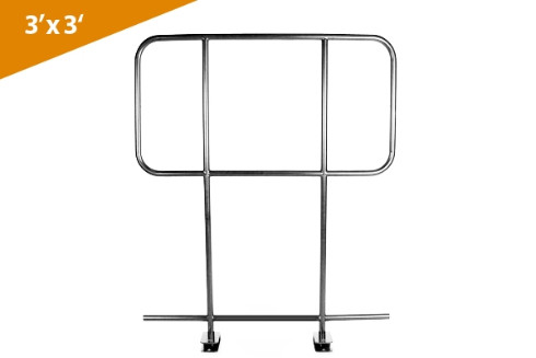 Guard Rails For 3' X 3' Platform (2 Pcs Per Master Pack. Mounting Hardware Included)