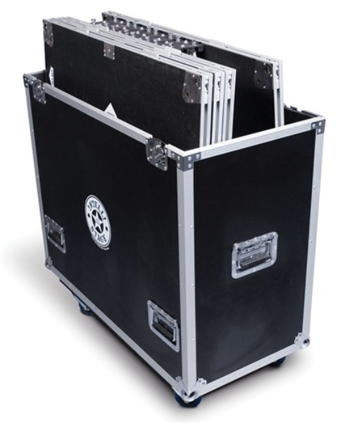 Flight Case For 6 3' X 3' Platforms And 6 Matching Risers