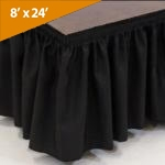 "8' Wide, 24""  Long Black Stage Skirt"