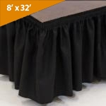 "8' Wide, 32""  Long Black Stage Skirt"