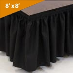 "8' Wide, 8""  Long Black Stage Skirt"