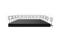 "288 SQUARE FOOT ( 12 FT X 24 FT) GUARDRAIL STAGE KIT WITH STEPS AND STAGE SKIRT – 16"" HIGH"