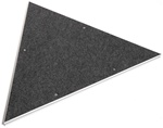 3' Carpeted Triangle Platform