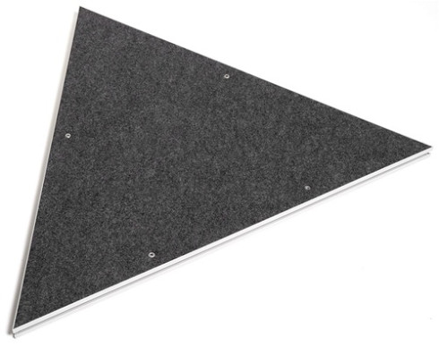 4' Carpeted Triangle Platform