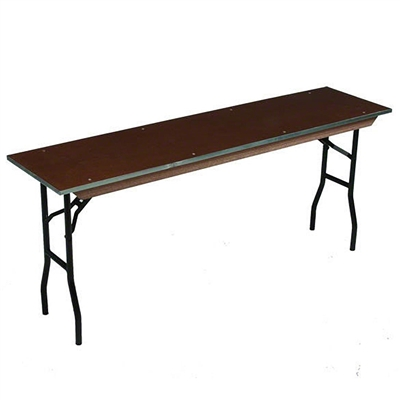 "Midwest Folding 24""x72"" Standard Seminar Folding Table, Plywood Surface"