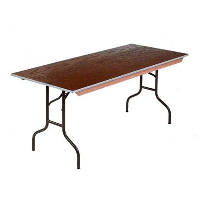 "Midwest Folding 36""x72"" Rectangular Folding Table, Plywood Surface"