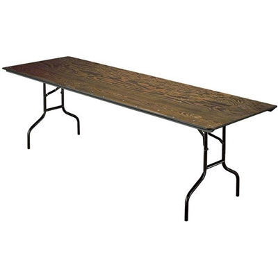 "Midwest Folding 30""x96"" Rectangular Folding Table, Plywood Surface"