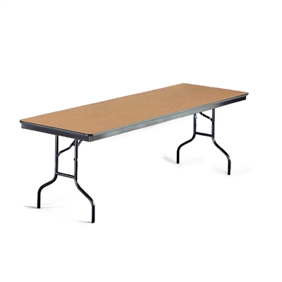 "Midwest Folding 30""x96"" Rectangular Folding Table, Laminate Surface"