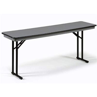 "Midwest Folding 18""x72"" Comfort Leg Seminar Folding Table, Hexalite® Surface"