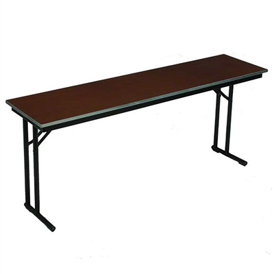 "Midwest Folding 18""x96"" Comfort Leg Seminar Folding Table, Plywood Surface"