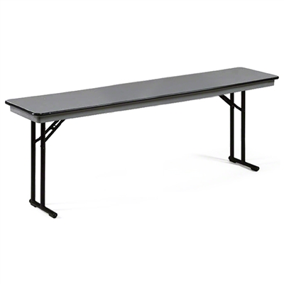 "Midwest Folding 18""x96"" Comfort Leg Seminar Folding Table, Hexalite® Surface"