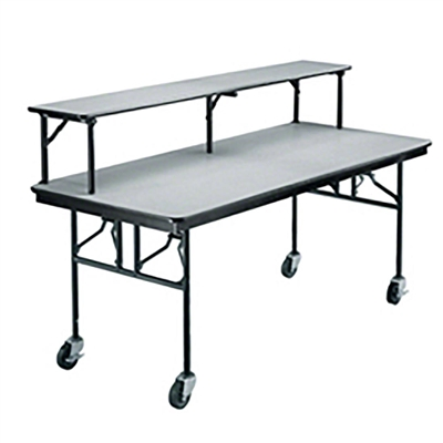 "Midwest Folding 30""x96"" Mobile Buffet/Bar Table, Laminate Surface"