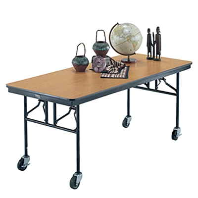 "Midwest Folding 30""x96"" Mobile Utility Table, Laminate Surface"