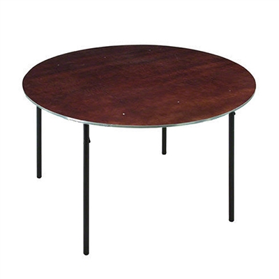 "Midwest Folding 30"" Round Folding Table, Plywood Surface"