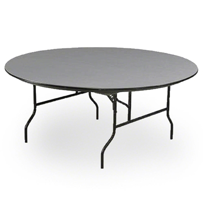 "Midwest Folding 72"" Round Folding Table, Hexalite® Plastic Surface"
