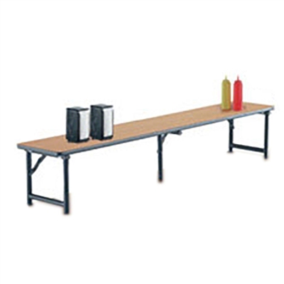"Midwest Folding 12""x96"" Riser Shelf for Mobile Utility Table, Laminate Surface"