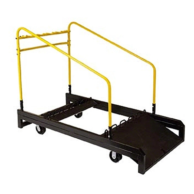 "Midwest Folding UpperZone Round 60"" Wide Table Truck, 10 Table Capacity"