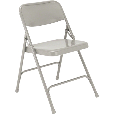 National Public Seating 202 Premium All-Steel Folding Chair, Grey