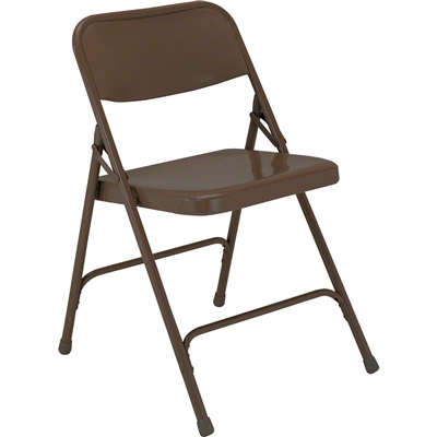National Public Seating 203 Premium All-Steel Folding Chair, Brown