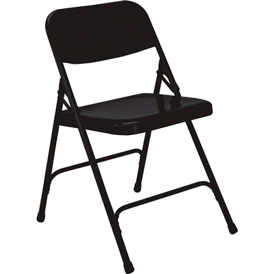 National Public Seating 210 Premium All-Steel Folding Chair, Black