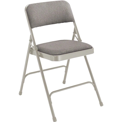 National Public Seating 2202 Fabric Premium Folding Chair, Greystone