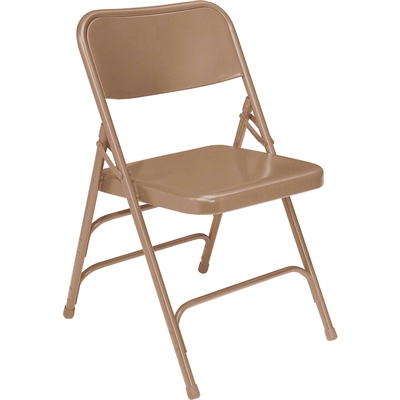 National Public Seating 301 Deluxe All-Steel Brace Folding Chair, Beige