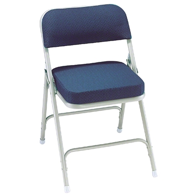 National Public Seating 3215 Premium Steel Fabric Folding Chair, Regal Blue