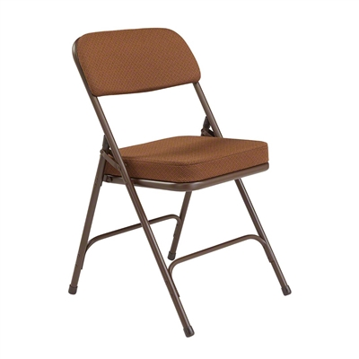 National Public Seating 3219 Premium Steel Fabric Folding Chair, Antique Gold