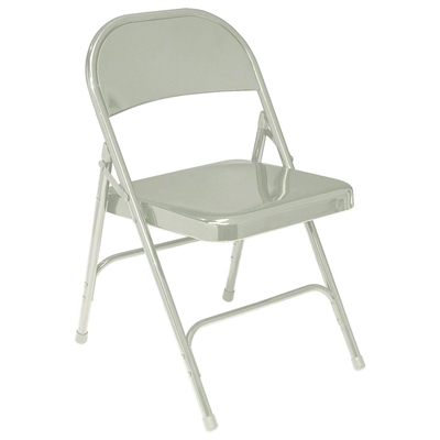 National Public Seating 52 Standard All-Steel Folding Chair, Grey