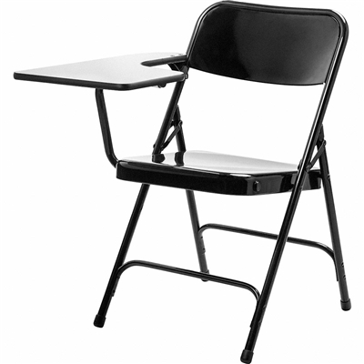 National Public Seating 5210R Premium All Steel Folding Chair With Tablet-Arm, RIGHT