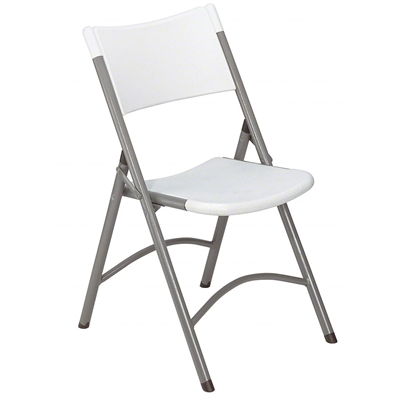 National Public Seating 602 Blow Molded Resin Plastic Folding Chair, Speckled Grey