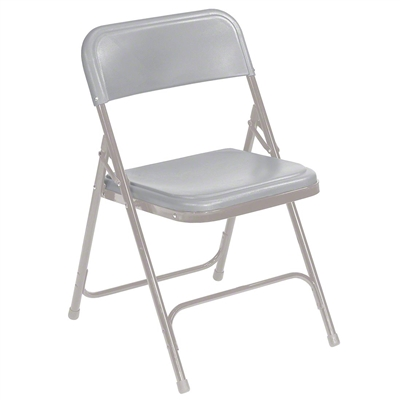 National Public Seating 802 Premium Plastic Lightweight Folding Chair, Grey