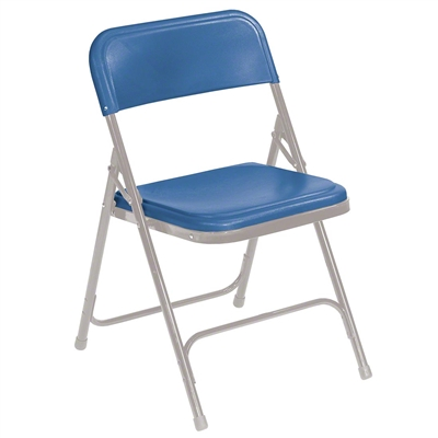 National Public Seating 805 Premium Plastic Lightweight Folding Chair, Blue