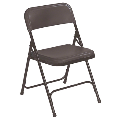 National Public Seating 810 Premium Plastic Lightweight Folding Chair, Black