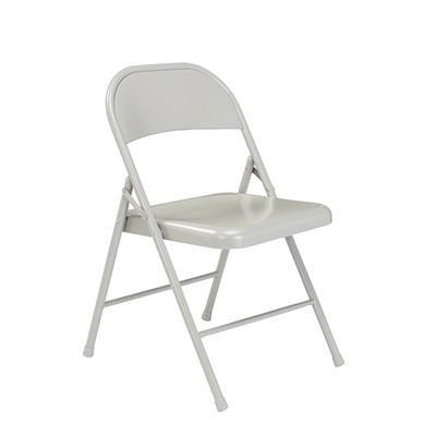 National Public Seating 902 Commercialine All-Steel Folding Chair, Grey
