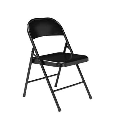 National Public Seating 910 Commercialine All-Steel Folding Chair, Black