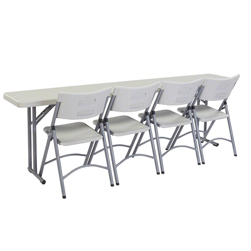 "National Public Seating 18"" x 96"" Folding Seminar Table & Chairs Package"