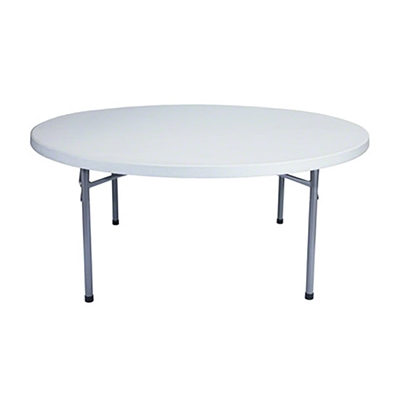 "National Public Seating BT71R 71"" Round Folding Table"