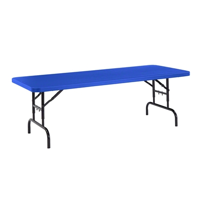 "National Public Seating BTA-3072 30""x72"" Height Adjustable Rectangular Folding Table, Blue"