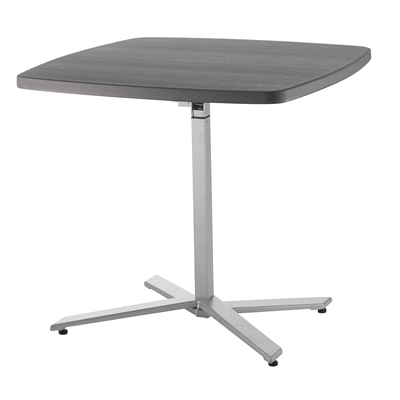 National Public Seating CTT3042 Cafe Time Adjustable-Height Table, Charcoal Slate Top/Silver Frame