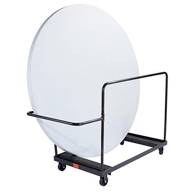 "National Public Seating DY71R 71"" Round Folding Table Dolly, Vertical Storage"
