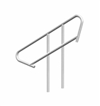 Universal, Adjustable Stair Handrail. Fits all Adjustable Stairs - dual pack, Mounting hardware included