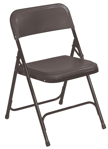 Premium Plastic Executive Folding Chairs - Black