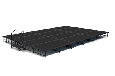 "16' x 24' 16"" High, Economy Executive Stage Kit (Poly Finish)"
