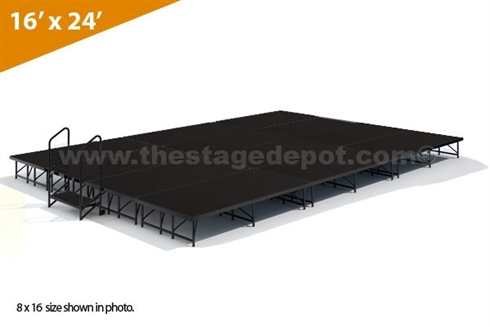 "16' x 24' 16"" High, Single Height Stage Kit (Poly Finish)"