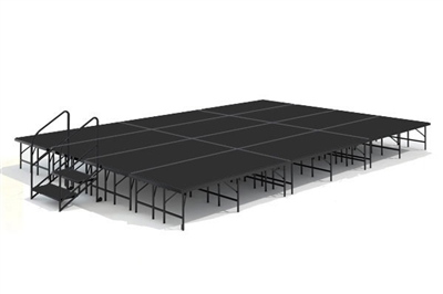 "16' x 24' 24"" High, Economy Executive Portable Stage Kit (Poly Finish)"