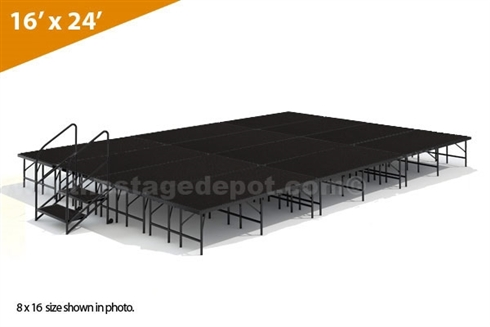 "16' x 24' 24"" High, Single Height Stage Kit (Poly Finish)"