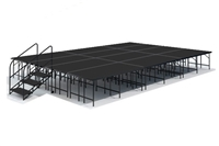 "16' x 24' 32"" High, Economy Executive Portable Stage Kit (Poly Finish)"