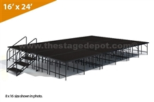 "16' x 24' 32"" High, Single Height Stage Kit (Poly Finish)"