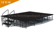 "12' x 16' - 16"" Single Height Stage Kit ( Poly Finish )"